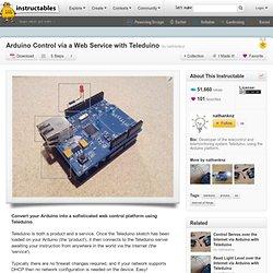 Arduino Control via a Web Service with Teleduino