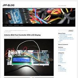 Arduino Pédalier MIDI avec affichage LCD