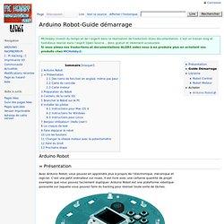 Arduino Robot-Guide démarrage