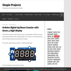 Arduino Digital Up/Down Counter with Grove 4-Digit Display