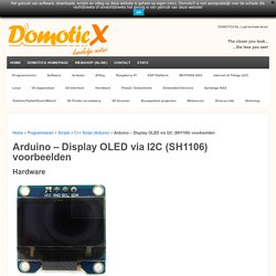 Arduino - Display OLED via I2C (SH1106)
