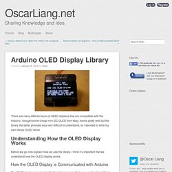 Arduino OLED Display Library