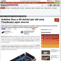 Arduino Due a 49 dollari per chi ama l'hardware open source