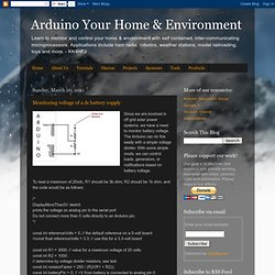 Monitoring voltage of a dc battery supply