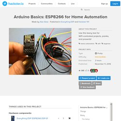 Arduino Basics: ESP8266 for Home Automation
