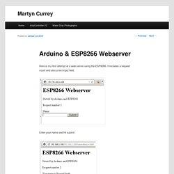 Arduino & ESP8266 Webserver