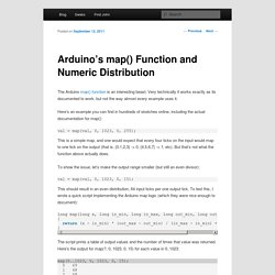 Arduino's map() Function and Numeric Distribution