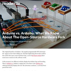 Arduino vs. Arduino: What We Know About The Open-Source Hardware Fork