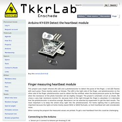 Arduino KY-039 Detect the heartbeat module - TkkrLab