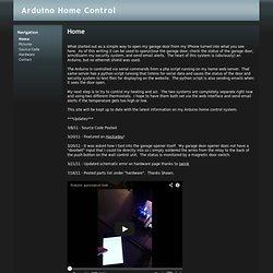 Arduino Home Control