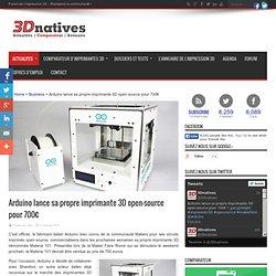 Arduino lance sa propre imprimante 3D open-source pour 700€