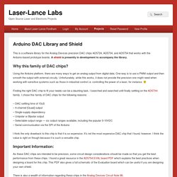 Arduino DAC Library and Shield - Laser-Lance Labs