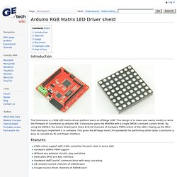 Arduino RGB Matrix LED Driver shield - Geeetech Wiki