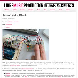 Arduino and MIDI out