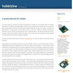 Arduino Neural Network