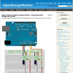How to build an arduino energy monitor