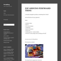 ESP ARDUINO PERFBOARD THING