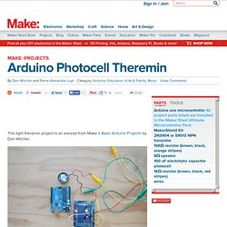 Arduino Photocell Theremin