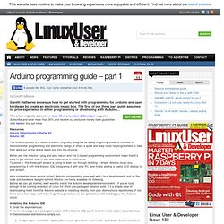 Arduino programming guide – part 1
