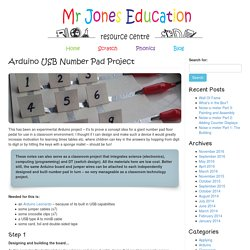 Arduino USB Number Pad Project « Mr Jones Education