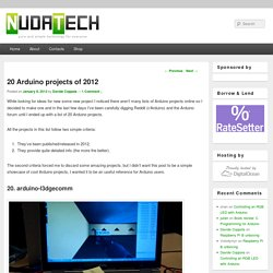 20 Arduino Projects Of 2012