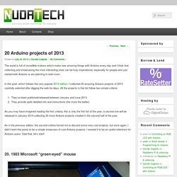 20 Arduino Projects Of 2013