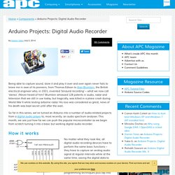 Arduino Projects: Digital Audio Recorder