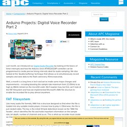 Arduino Projects: Digital Voice Recorder Part 2