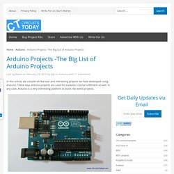 Arduino Projects - The Big List of 100+ Arduino Projects