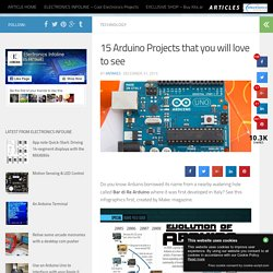 15 Arduino Projects that you will love to see