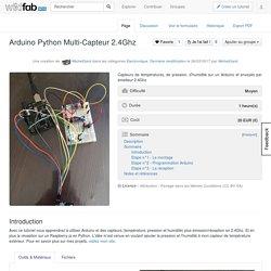 Arduino Python Multi-Capteur 2.4Ghz — Wikifab