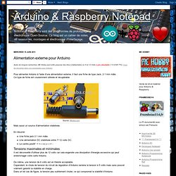 Alimentation externe pour Arduino