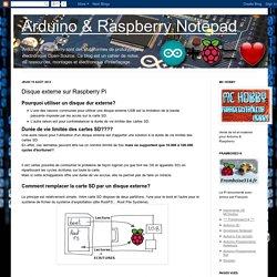 Arduino & Raspberry Notepad: Disque externe sur Raspberry Pi