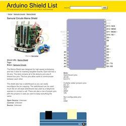 Arduino Shield List: Samurai Circuits Mama Shield