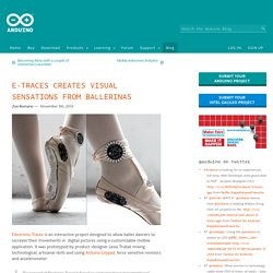 E-traces creates visual sensations from ballerinas