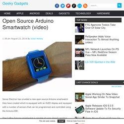 Open Source Arduino Smartwatch (video) - Geeky Gadgets