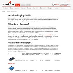 Arduino Buying Guide