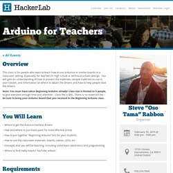 Arduino for Teachers - Hacker Lab - Hacker Lab