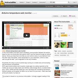 Arduino temperature web monitor
