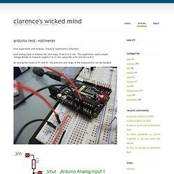 Arduino test: voltmeter