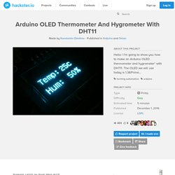Arduino OLED Thermometer And Hygrometer With DHT11