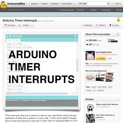 Arduino Timer Interrupts