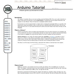 Arduino Tutorial - Lesson 4 - Serial communication and playing with data