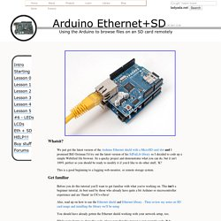 Tutoriels Arduino - Ethernet + SD