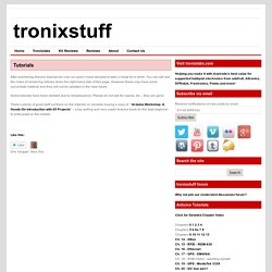 Arduino Tutorials - tronixstuff