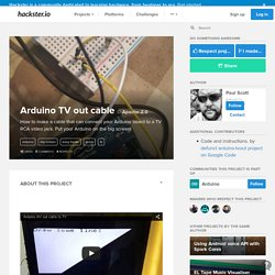 Arduino TV out cable