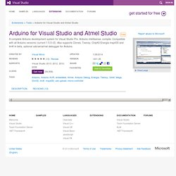 Arduino plugin for Visual Studio extension