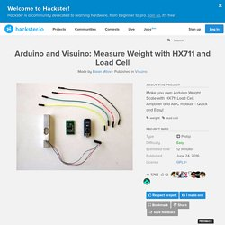 Arduino and Visuino: Measure Weight with HX711 and Load Cell