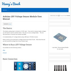 Learn how to use the Arduino voltage sensor module.
