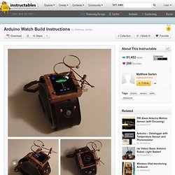 Arduino Watch Build Instructions
